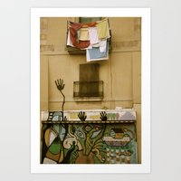 Barcelona Graffiti Art Print
