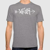 Wander Mens Fitted Tee Tri-Grey SMALL