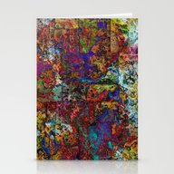 Abstract In Red & Blue Stationery Cards