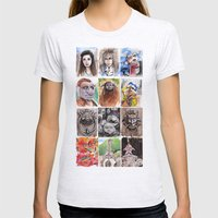 Labyrinth Cast Womens Fitted Tee Ash Grey SMALL