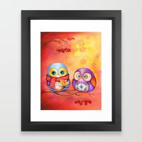 Fall Colors Owls And Pum… Framed Art Print