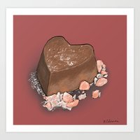 Valentine's Day with Sea Salt (Single Chocolate) Art Print