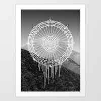 Montain Mark Art Print