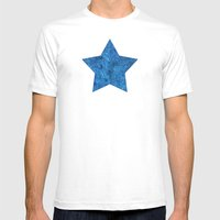 Turquoise Blue Doodles Mens Fitted Tee White SMALL