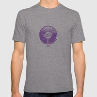 Vinyl Rocks Mens Fitted Tee Tri-Grey SMALL