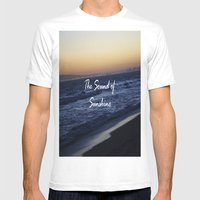 The Sound Of Sunshine Mens Fitted Tee White SMALL