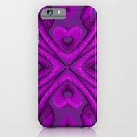 Hot Pink Hearts iPhone 6 Slim Case