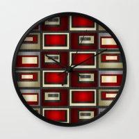 Dark Romance Geometric Wall Clock