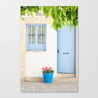 Blue and light Canvas Print