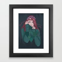 Being Shy Is Painful Framed Art Print
