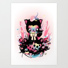 Lucky kitty Art Print