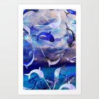 Ocean Narwhal  Art Print