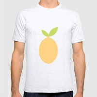 #53 Lemon  Mens Fitted Tee Ash Grey SMALL
