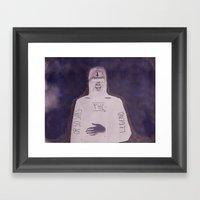 Animal Face Plate: Or So… Framed Art Print