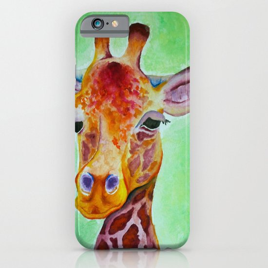 Colorful Giraffe iPhone & iPod Case