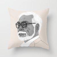 Hayao Miyazaki Throw Pillow