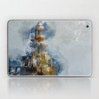 Watercolor lighthouse Blyth Northumberland Laptop & iPad Skin