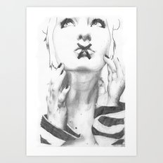 Speak no evil Art Print