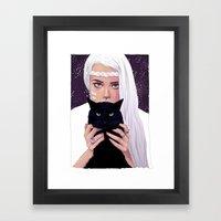 She Had Stars In Her Eye… Framed Art Print
