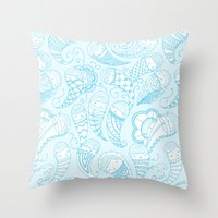 Ghostly Paisley Throw Pillow