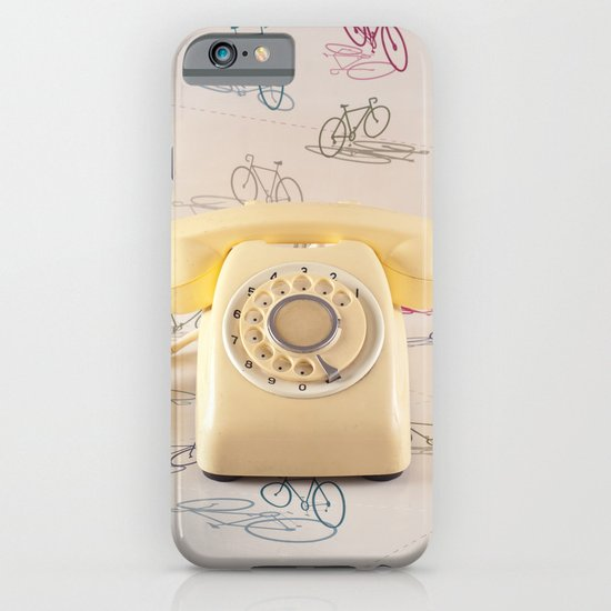 The yellow retro telephone  iPhone & iPod Case