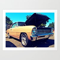 Art Print featuring Classic Chevy Nova by Vorona Photography