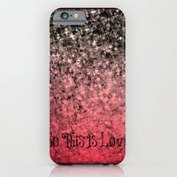 SO THIS IS LOVE Romantic Ombre Valentines Abstract Acrylic Painting Typography Art Red Pink Black iPhone 6 Slim Case