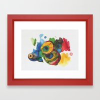 Colorful fish 3 Framed Art Print