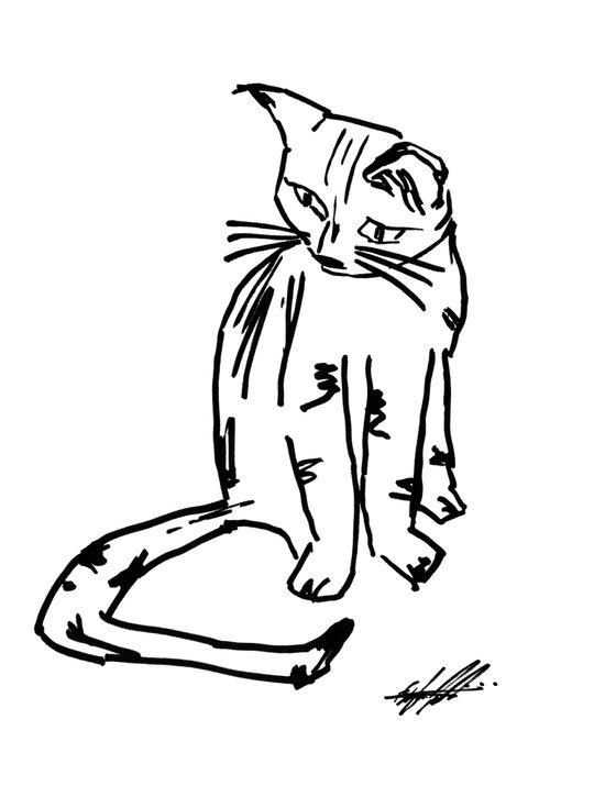 Alien Cat Canvas Print