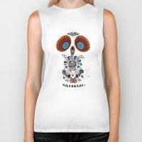 Mexican Owl Biker Tank