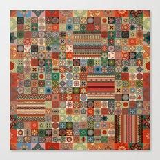 Boho Quilt Pattern 3 Canvas Print