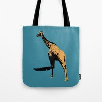 Tote Bag featuring giraffe by Panic Junkie