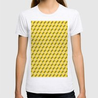 Staircase Pattern  Womens Fitted Tee Ash Grey SMALL