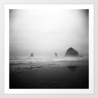 Cannon Beach . Holga Art Print