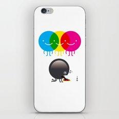 CMY makes K dizzy iPhone & iPod Skin