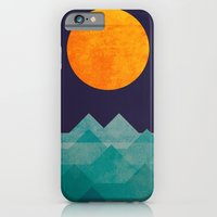 wave iPhone & iPod Cases featuring The ocean, the sea, the wave - night scene by Picomodi
