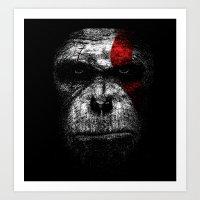 Ape of war Art Print