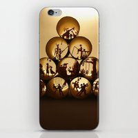 Pyramid of rolls 1 (Pyramide des rouleaux 1) iPhone & iPod Skin