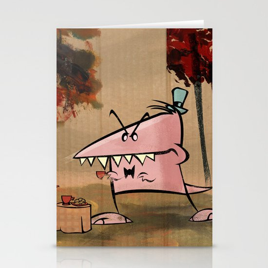 Dennis Dinosaur Hates Afternoon Tea Stationery Card