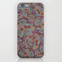 Rings Of Flowers iPhone 6 Slim Case