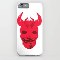 iPhone & iPod Case featuring Red Devil by justlikeandy.co.uk Andy Warhol-style
