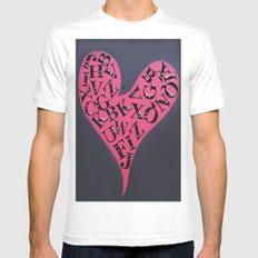 Love Letters SMALL White Mens Fitted Tee