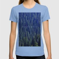 Drink the Wild Air 2 Womens Fitted Tee Athletic Blue SMALL