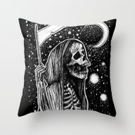 Throw Pillow featuring Death Tarot by Corinne Elyse