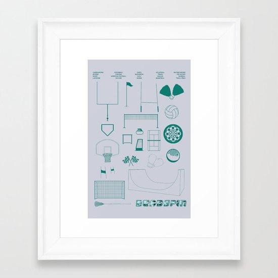 Essence Of Deadspin Framed Art Print