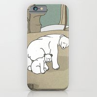 Polar Bear Mother and Son iPhone 6 Slim Case