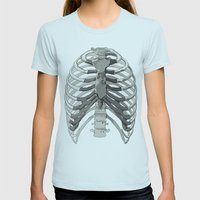 Vector Ribcage Womens Fitted Tee Light Blue SMALL