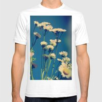 Coming Up Daisies Mens Fitted Tee White SMALL
