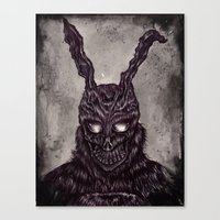Donnie Darko - ballpoint pen and watercolor Canvas Print