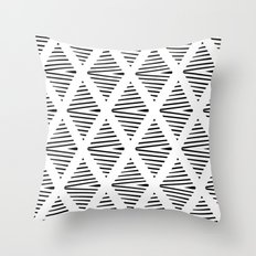 BW Pattern Throw Pillow